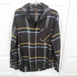 Nike l Men's Brown Flannel Button Up